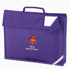 Personalised 'SCHOOL HOUSE' logo School Book Bag